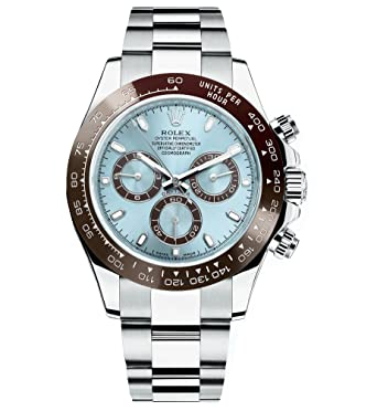 Amazon Com Rolex Daytona Platinum Watch Ice Blue Ceramic 116506