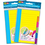 Redi-Tag Divider Sticky Notes, 60 Ruled Notes per Pack, 4 x 6 Inches, Assorted Neon Colors, 2 Pack (10290)