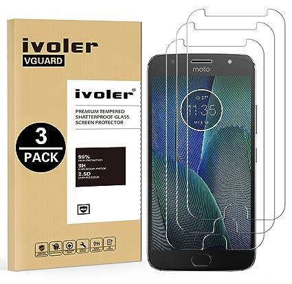 ivoler [3 Unidades] Protector de Pantalla para Motorola Moto G5S ...