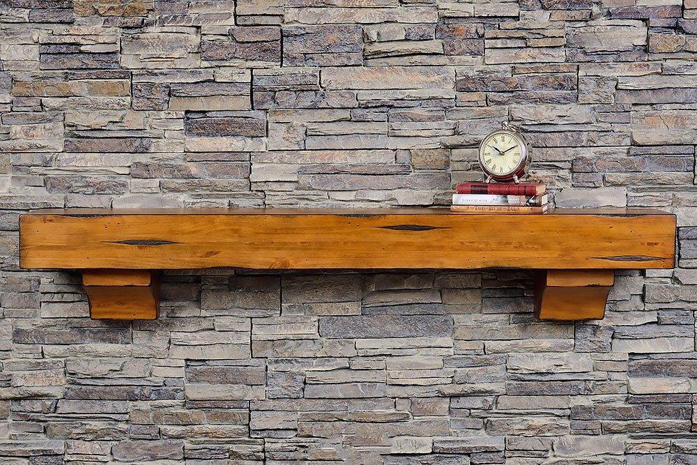 Breckenridge 48 Inch Shelf - Chestnut Rustic Finish by Mantels Direct