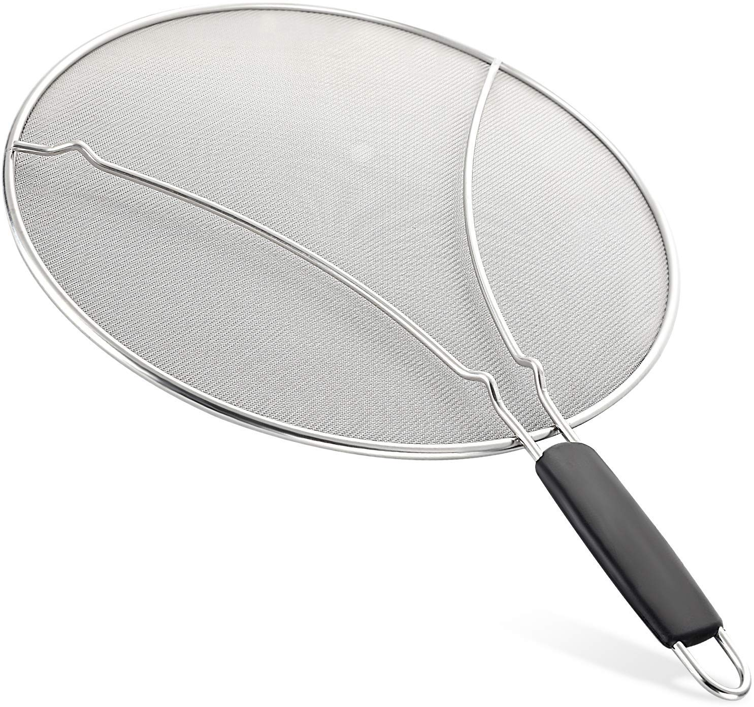 Splatter Screen for Frying Pan - Large 13'' Stainless Steel Grease Guard Shield and Catcher - Stops Almost 100% of Hot Oil Splash - Keeps Stove and Pans Clean by AWZSDF