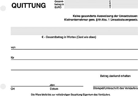 Quittungsvorlage Barzahlung Kostenlos Herunterladen 7
