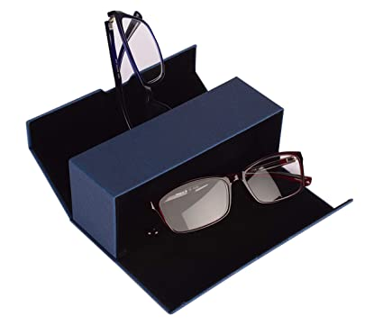 Práctico estuche doble para 2 gafas, con imán, resistente y ...