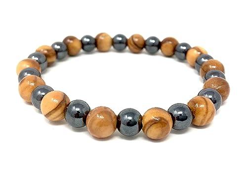 Amazon.com: Bracelet Made of Genuine Olive Wood Beads 8mm ...