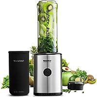 Smoothie Maker, Willsence Smoothie Mixer 300 Watts Standmixer mit Tritan BPA Frei Flasche und Edelstahlmesser. …