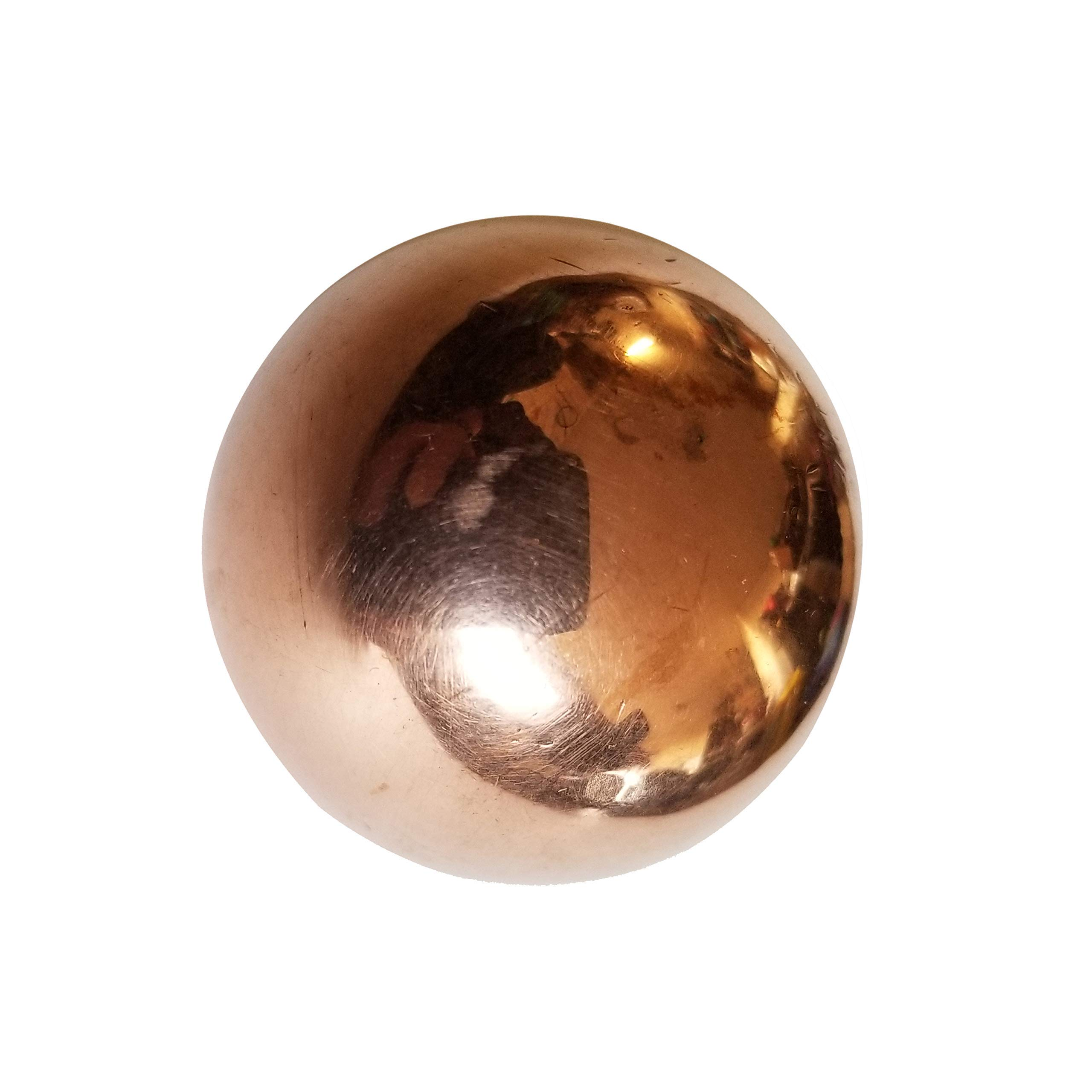 Premium Native Pure Solid Copper Ball Approx 38mm 1.5 inch Diameter Healing Energy Orb Sphere Mineral, Mental Agility, Grounding, Eurythymy, Movement Therapy