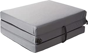 American Furniture Alliance 32-5723-609 Hide A' Mat 3.5 x 30 x 75 inch Jr Twin Trifold Mattress, Pewter Mesh/Black Poly