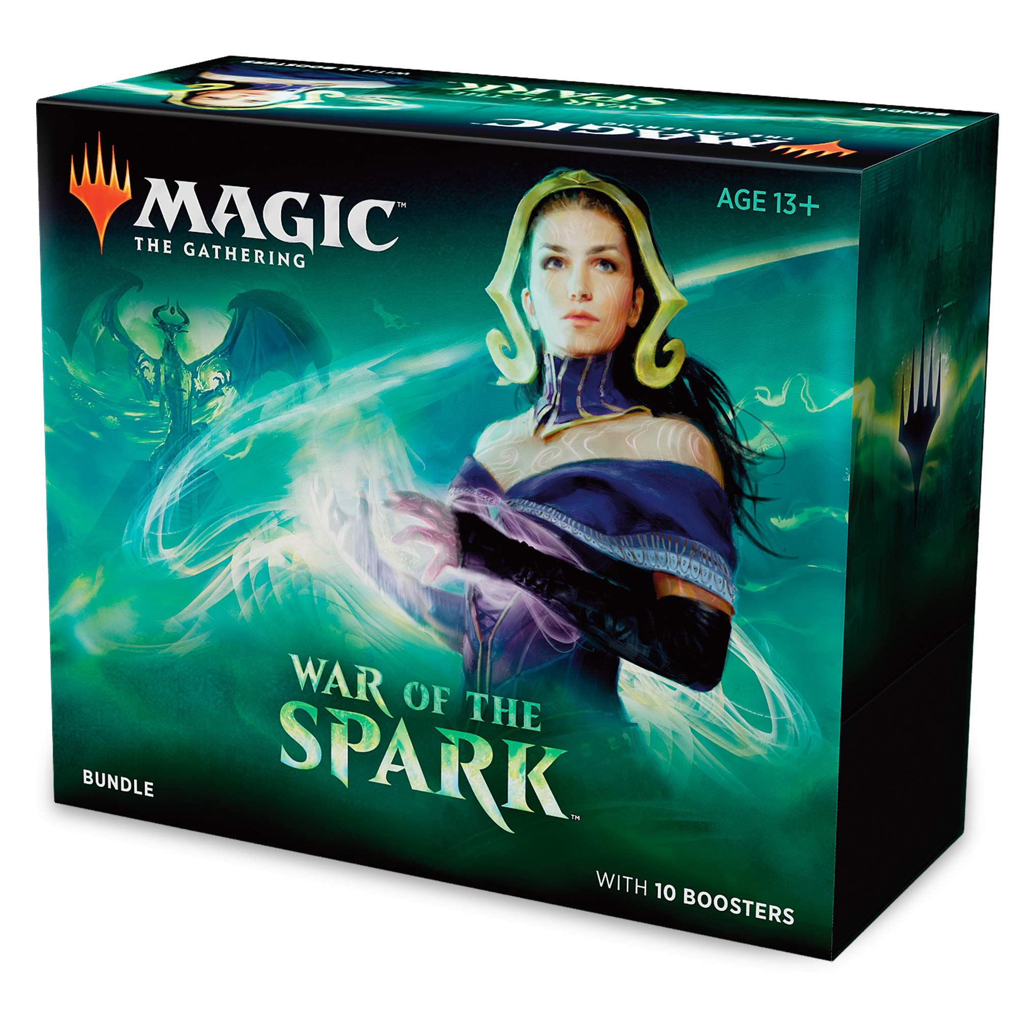 Magic: The Gathering War of The Spark Bundle | 10 Booster Packs | Accessories | Planeswalker in Every Pack