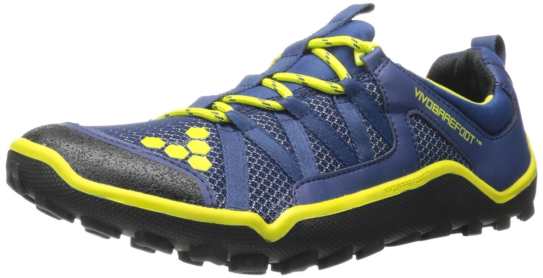 VIVOBAREFOOT Breatho Trail Open Mesh Zapatilla de Running Caballero, Azul Marino/Amarillo, 46: Amazon.es: Zapatos y complementos