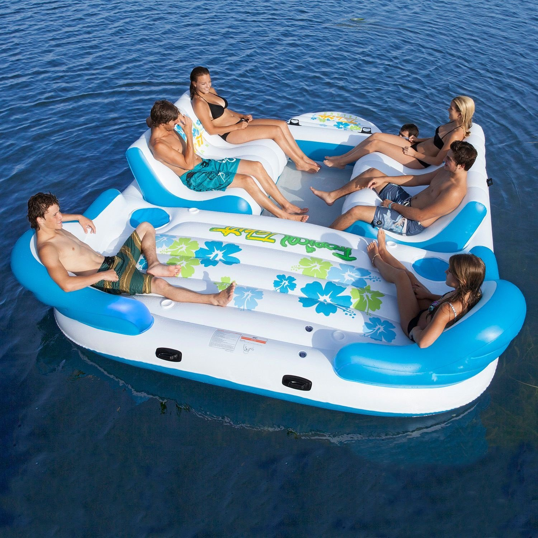6 persona Tropical Tahiti Isla flotante con 2 Integrado ...