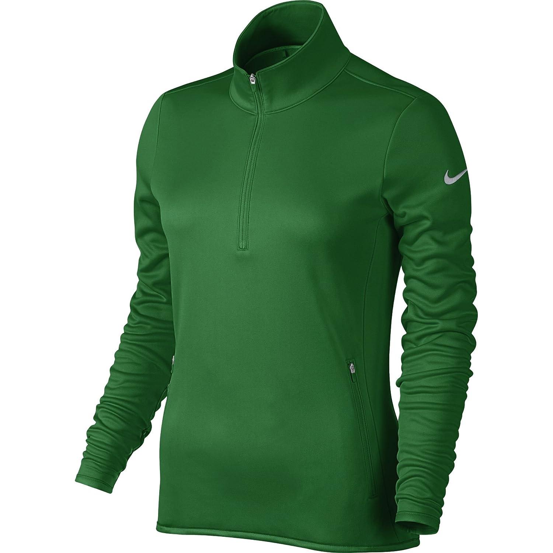 Nike Thermal 1/2Zip Langarm T-Shirt für Damen, Damen, Rot/Grau (Team Crimson/Wolf Grey)