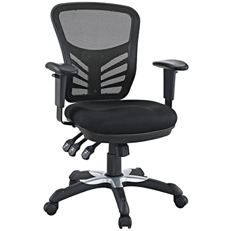 Amazoncom Modway Articulate Black Mesh Office Chair Kitchen