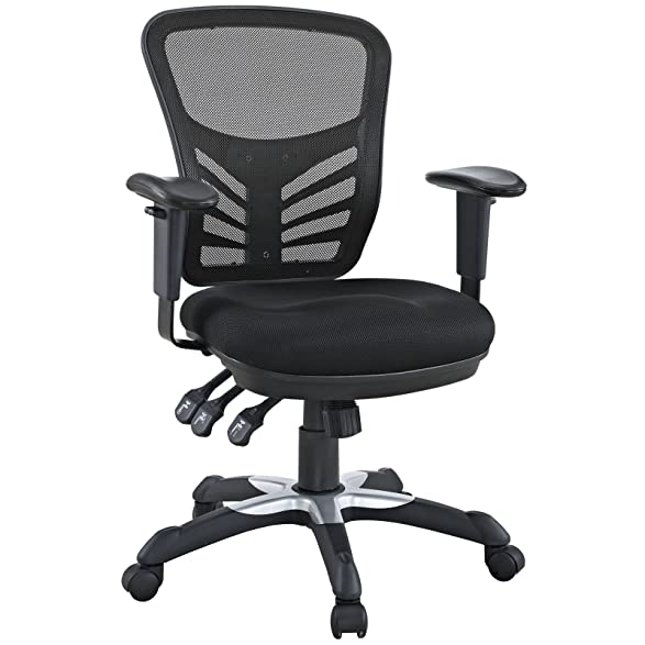 amazoncom modway articulate black mesh office chair kitchen u0026 dining