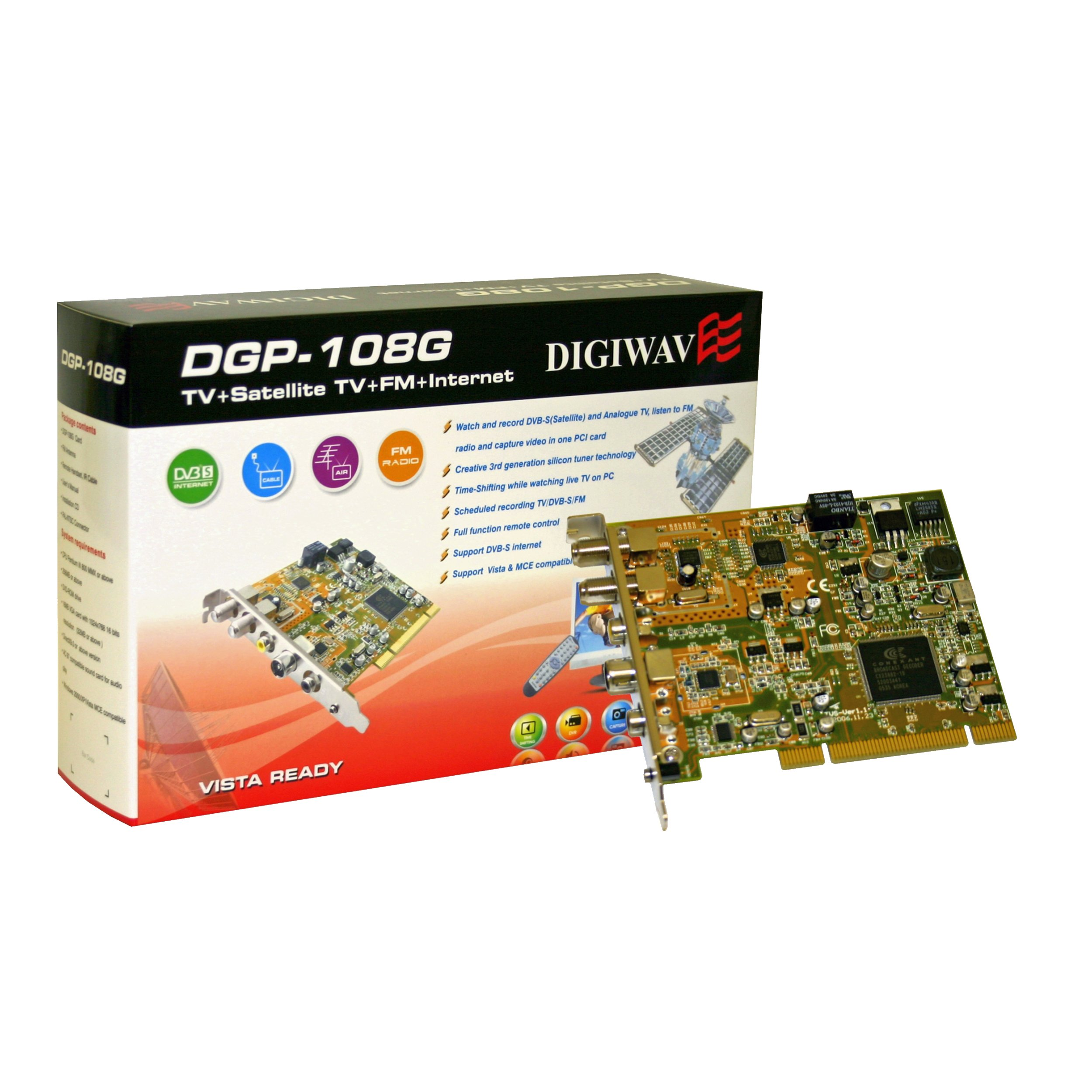 Homevision Technology All in one PCI TV Tuner Card, Metal (DGP108G)