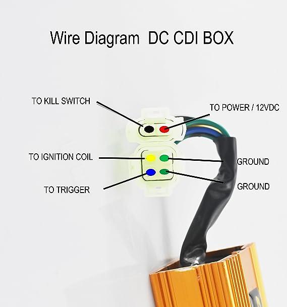 5 pin cdi ignition wiring diagram 150cc amazon com mayspare 6 pins dc cdi box variable timing performance  dc cdi box variable timing performance