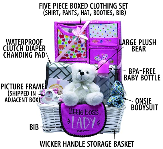 Basket stroller basket gift christening birth dragees boy girl