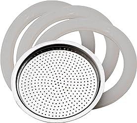 Pedrini 9081.RG1 Ricambio 3 Guarnizioni+Filtro 1 Tazza, Alluminio, Bianco, 4 unità