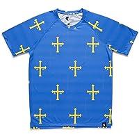 Camiseta Asturias Niño, Niña, Manga Corta, Running, Gimnasio