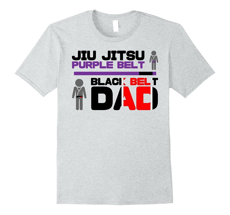 3374b45a Mens Jiu Jitsu Purple Belt Black Belt Dad-Teevkd – Teevkd.com