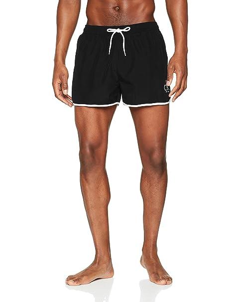 ba00b9c10a9c Calvin Klein Short Runner Bañador de natación para Hombre: Amazon.es ...