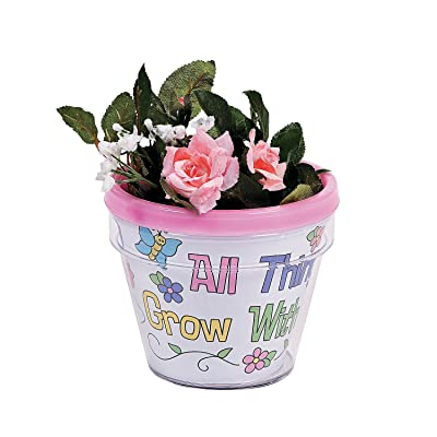 Color Your Own Growing in Gods Grace Flowerpot - Crafts for Kids and Fun Home Activities: Toys & Games