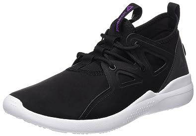 Reebok Women s Cardio Motion Black Violet White Dance Shoes - 5 UK India 708521897