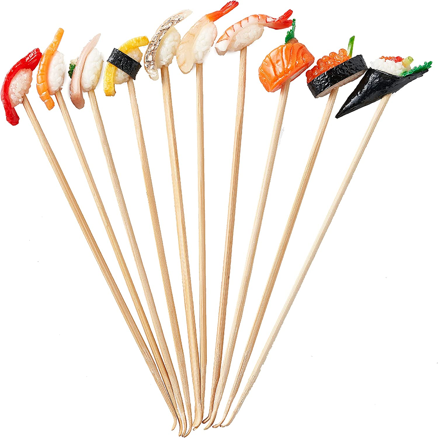 Sushi Ear Pick (10 Set) Miniature Food Replica Attached to mimikaki. Food Replicas Made in Japan. Surprisingly Realistic. Enjoy Cleaning Your Ears with These Unique Ear Picks