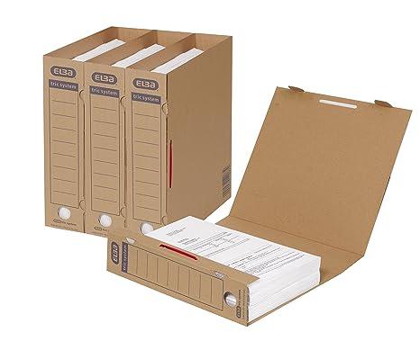 Elba 83523 - Caja archivadora (A4, sistema de lengüetas, capacidad de 500 hojas
