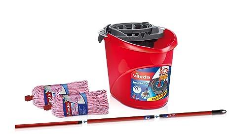 Vileda Set de Limpieza para Suelos, Plástico, Rojo