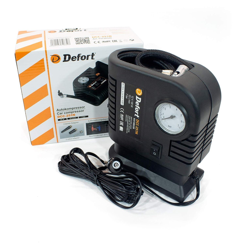 Defort DCC-251N - Minicompresor automático (12 V) [Importado de ...