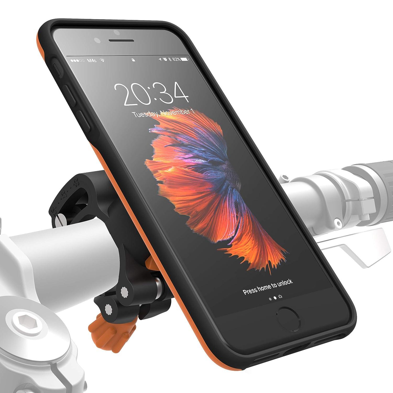 Black Bike Kit for iPhone 8 Plus // 7 Plus // 7Plus // 8Plus Stand Phone Holder /& iPhone 8 Plus Case MLM111 360 Rotation Bicycle Holder fits Most Handlebars MORPHEUS LABS M4s iPhone 8 Plus Bike Mount