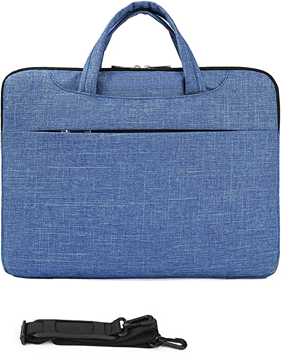 MUBUY 11.6 12 12.5 Inch Fashion Laptop Sleeve Case Bag with Shouler Straps for Surface Pro X/7/6/5/4/3 |MacBook Air 11 12 |Google Pixelbook 12.3 |Acer/Lenovo/HP/Dell/Samsung Chromebook 11.6 -Blue