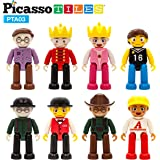 PicassoTiles Magnetic 8 Piece Character Action Figures Toddler Toy Set Magnet Expansion Variety Pack Educational Add-on…