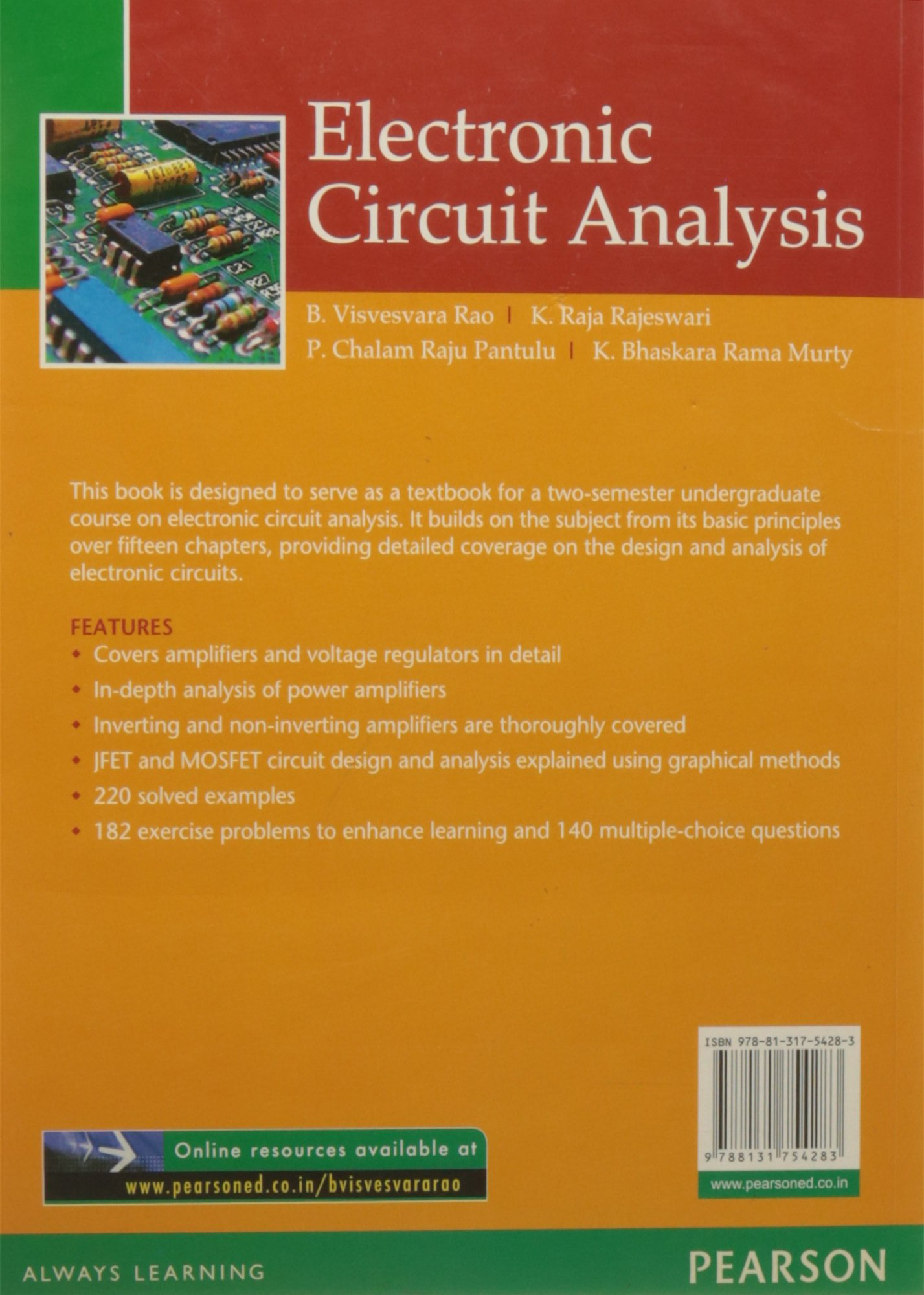 Buy Electronic Circuit Analysis 1e Book Online At Low Prices In Design India Reviews Ratings