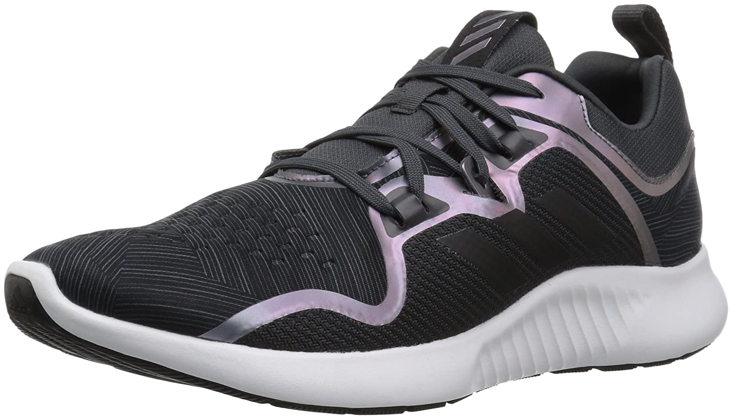 adidas Originals Women's Edgebounce Running Shoe B077XLCHM4 5.5 M US|Carbon/Black/Night Metallic