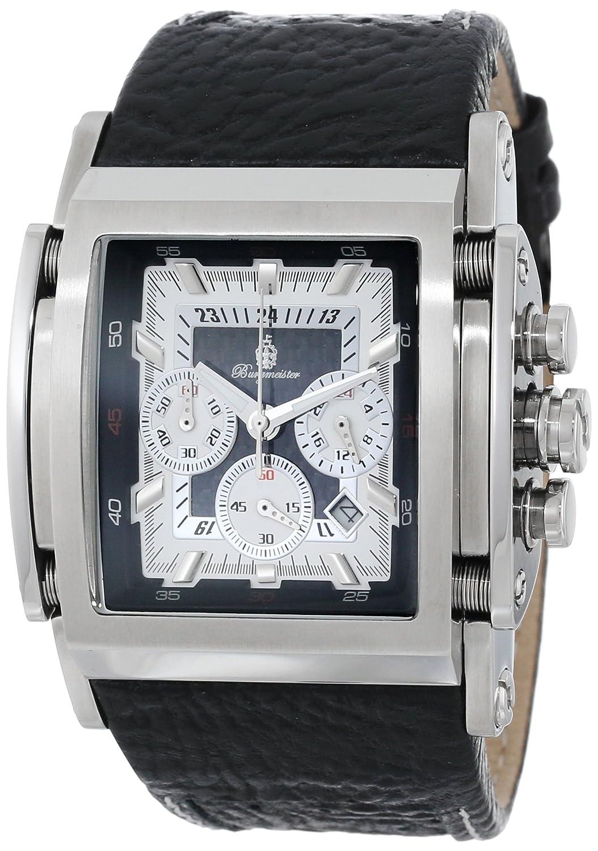 Burgmeister Saragossa BM150-622 - Reloj analógico de Cuarzo para Hombre, Correa de Cuero Color Negro
