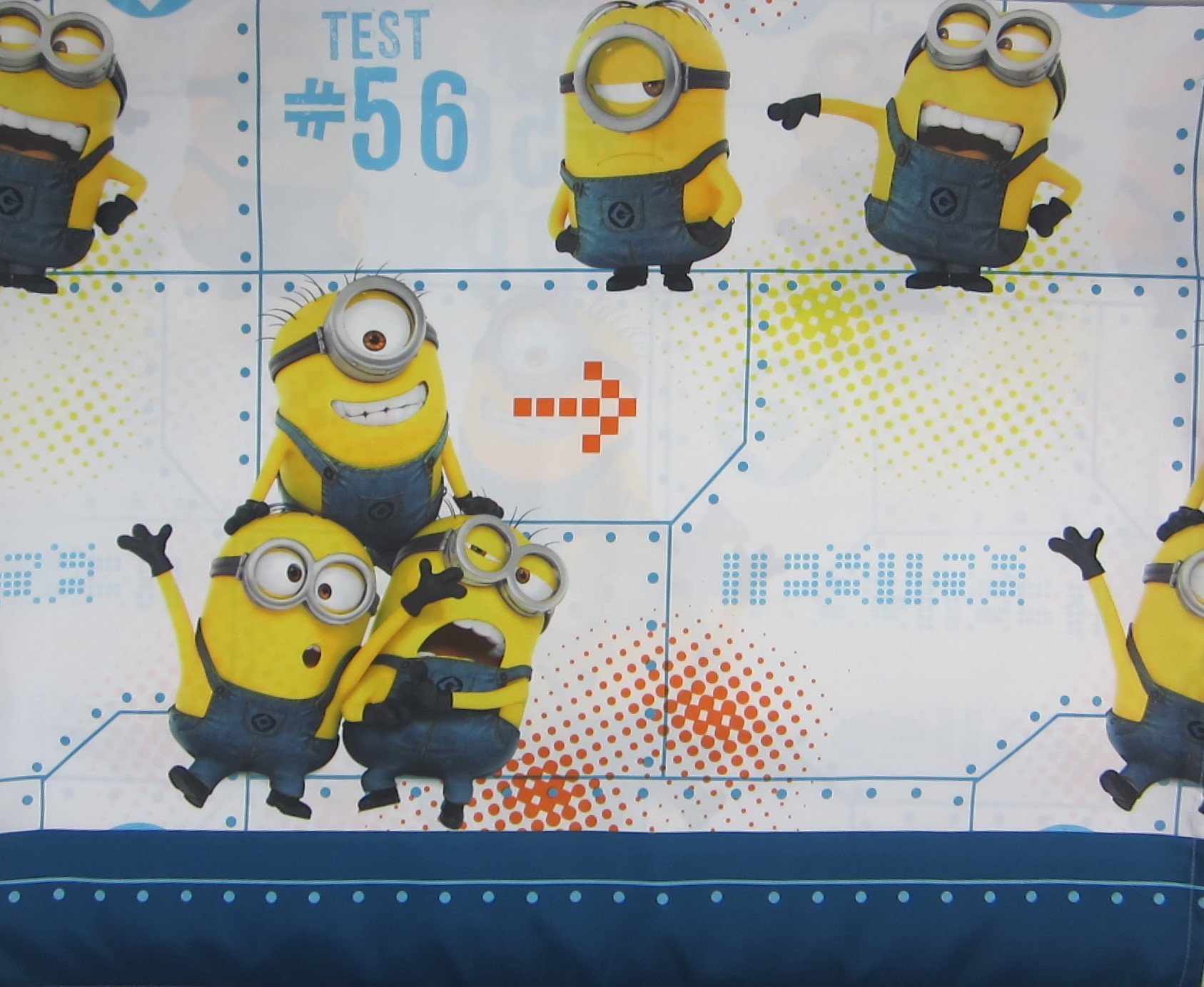 Minions Test 123 (Flat Sheet Only) Size FULL Boys Girls Kids Bedding