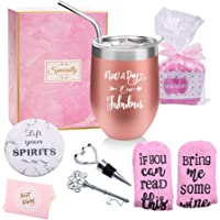 Yorktend Not a Day Over Fabulous Wine Tumbler - Fun Birthday Gifts for Women - Funny Birthday Wine Gifts Ideas for Her…