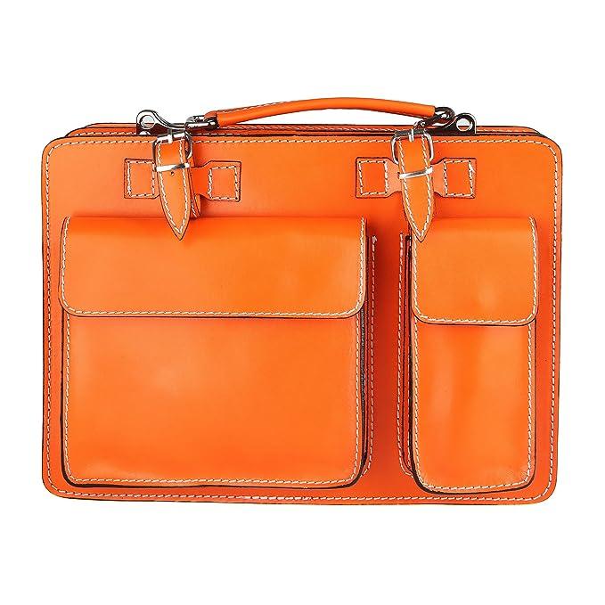 7dd519c37f Chicca Borse Handbag Borsa a Mano Portadocumenti Organizer Uomo Donna  Taglia Intermedia con Tracolla in Vera Pelle Made in Italy 34x24x12 Cm:  Amazon.it: ...