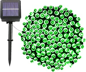 Solar Christmas Lights,72FT 200 LED 8 Mode Solar String Lights Waterproof Starry Fairy Light for Indoor/Outdoor Commercial Decor Ambiance Garden Backyard Wedding Holiday Party(Green)