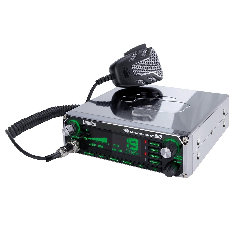 Uniden Bearcat CB Radio with 7-Color Display Backlighting Chrome BEARCAT880CHR