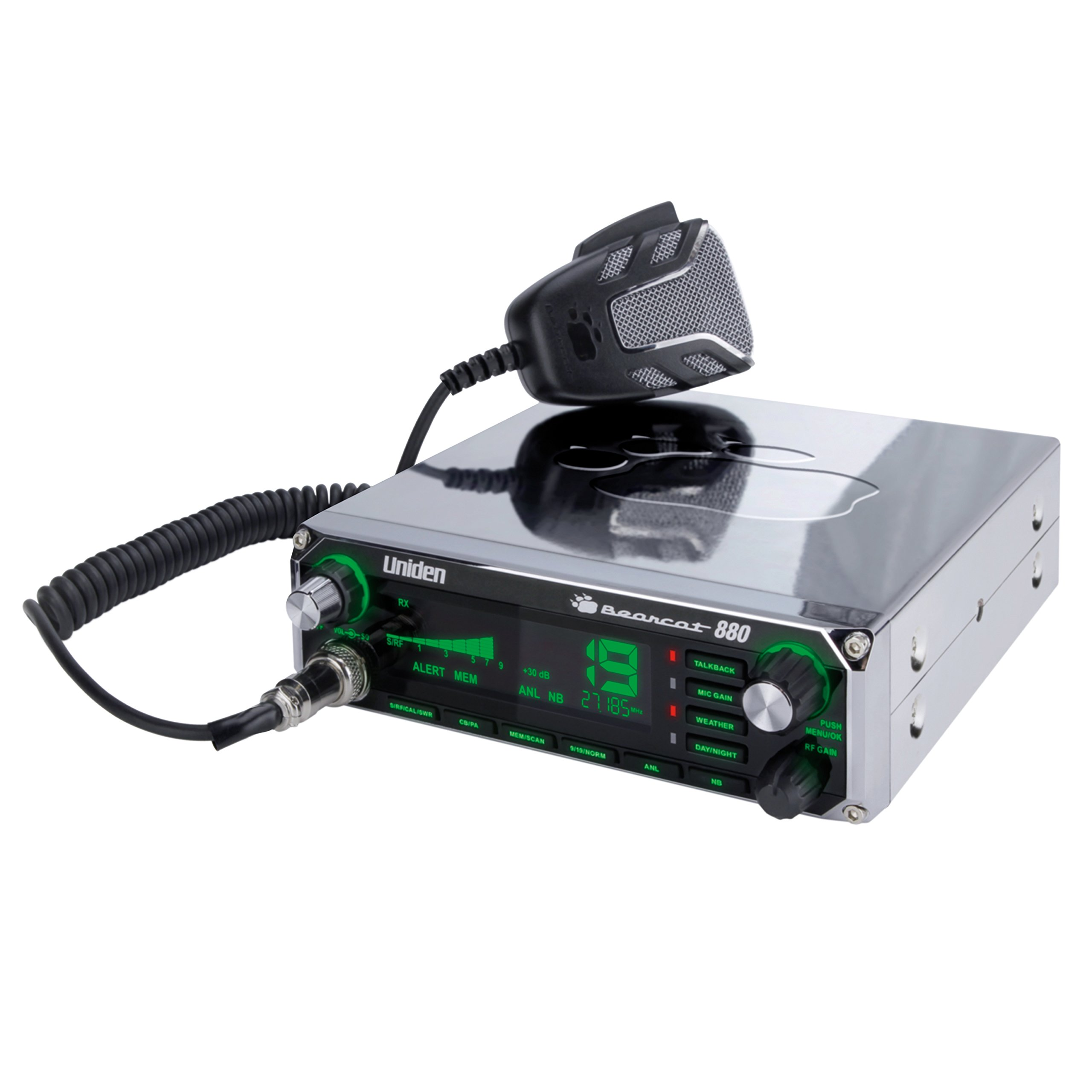Uniden Bearcat CB Radio with 7-Color Display Backlighting, Chrome, BEARCAT880CHR