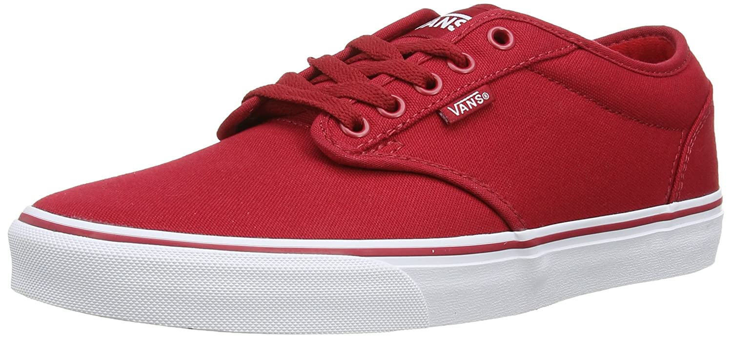 Vans Herren Atwood Canvas Sneakers  45 EU|Rot (Red/White 5gh)