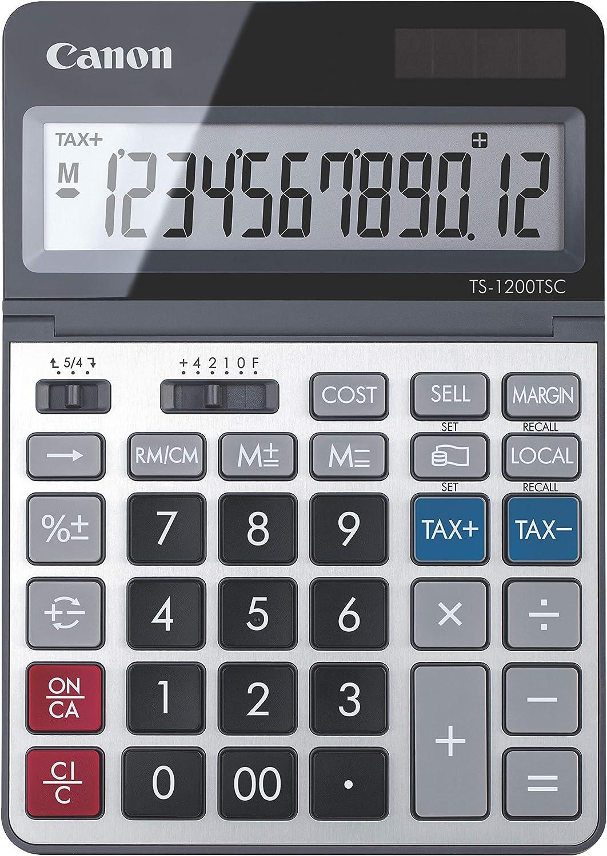 Canon USA 2468C001 Canon TS-1200TSC Desktop Calculator with LCD Display