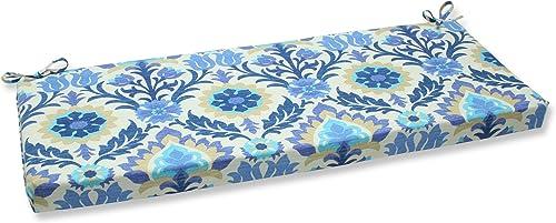 Pillow Perfect Outdoor Indoor Santa Maria Azure Bench Swing Cushion, 45 x 18 , Blue