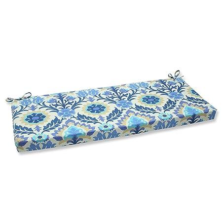 Pillow Perfect Outdoor Santa Maria Bench Cushion, Azure