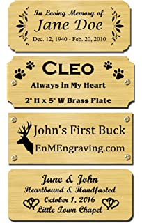 amazon com size 3 w x 1 h personalized custom engraved brushed