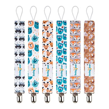 Pacifier Clips Fit All Pacifiers /& Soothers Boys Perfect Baby Gift Set Nearbyme Pacifier Clips 6 Pack Pacifier Holder for Boys and Girls