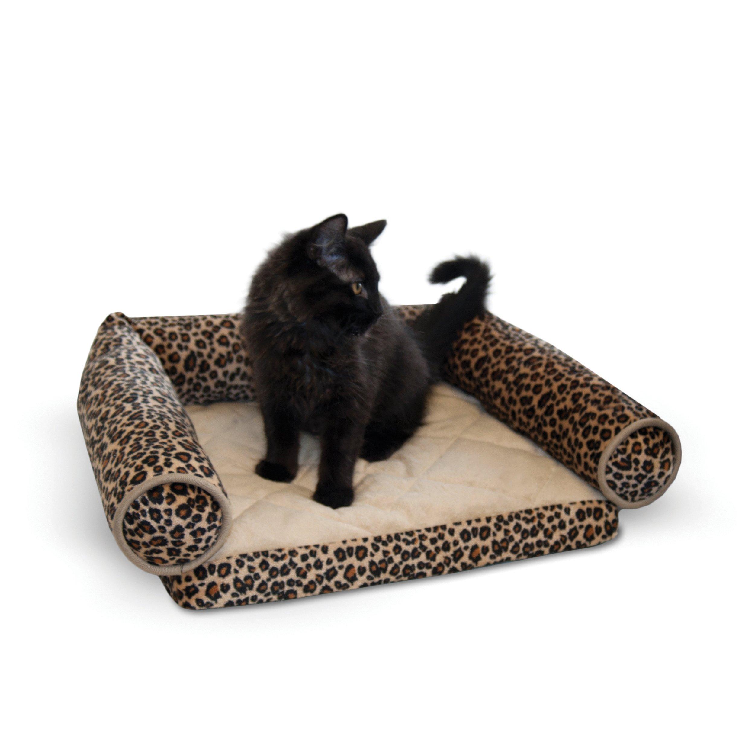 K&H Pet Products Lazy Lounger Pet Bed Leopard 14'' x 16''