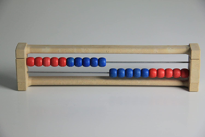 '20' er Rastrillo Marco rojo de azul, Ábaco, Student 's Abacus, sistema